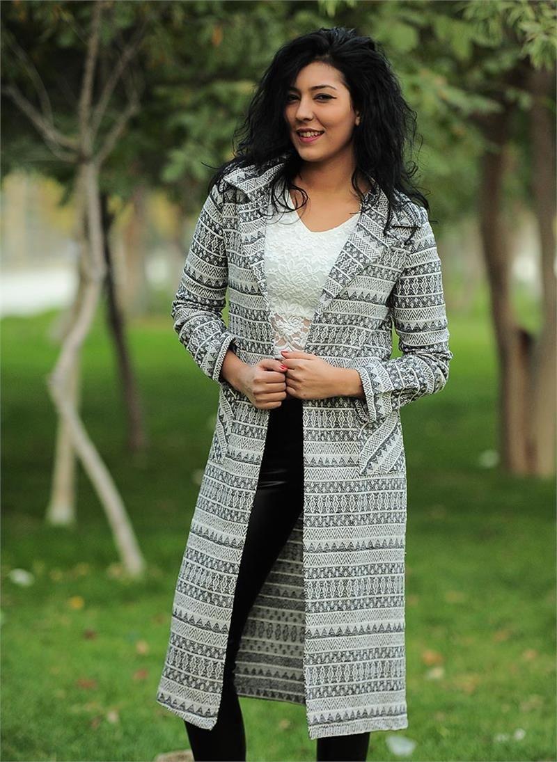 Bayan Ceket Kilim Desenli Uzun Modelleri Ve Uygun Fiyat Avantaja Yla Modabenle Kadin Giyim Kadin Moda