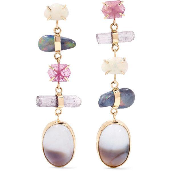 Melissa Joy Manning 14-karat Gold Multi-stone Earrings DL7K4tRW