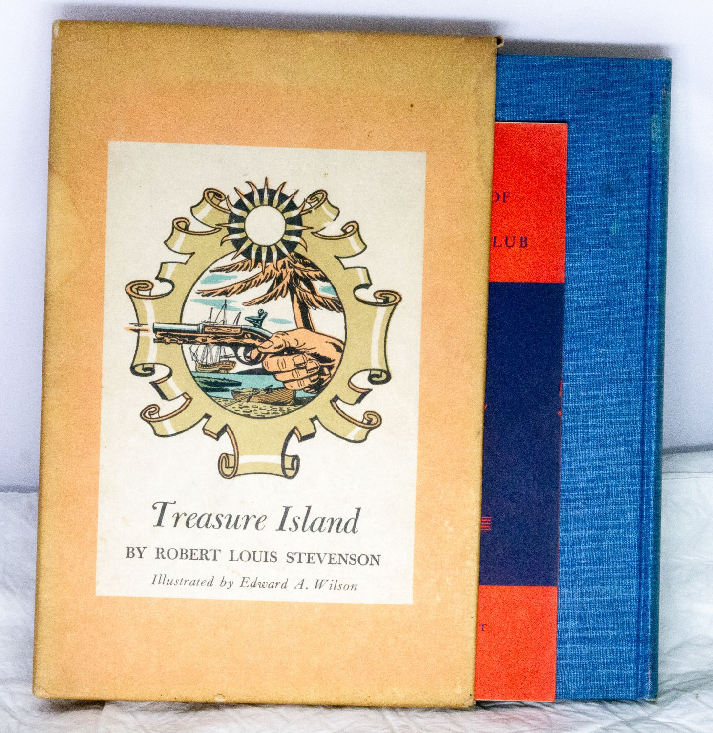 Special 1941 Heritage Illustrated Bookshelf Edition Of Treasure Island With Slip Cover.  Condition (Book/Dust Cover) VG/G - SOLD!