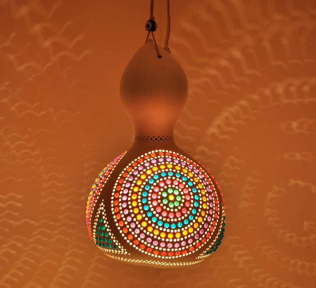 Hanging gourds lamps Art Mosaic Lamp mosaiclamps mozaik lamba