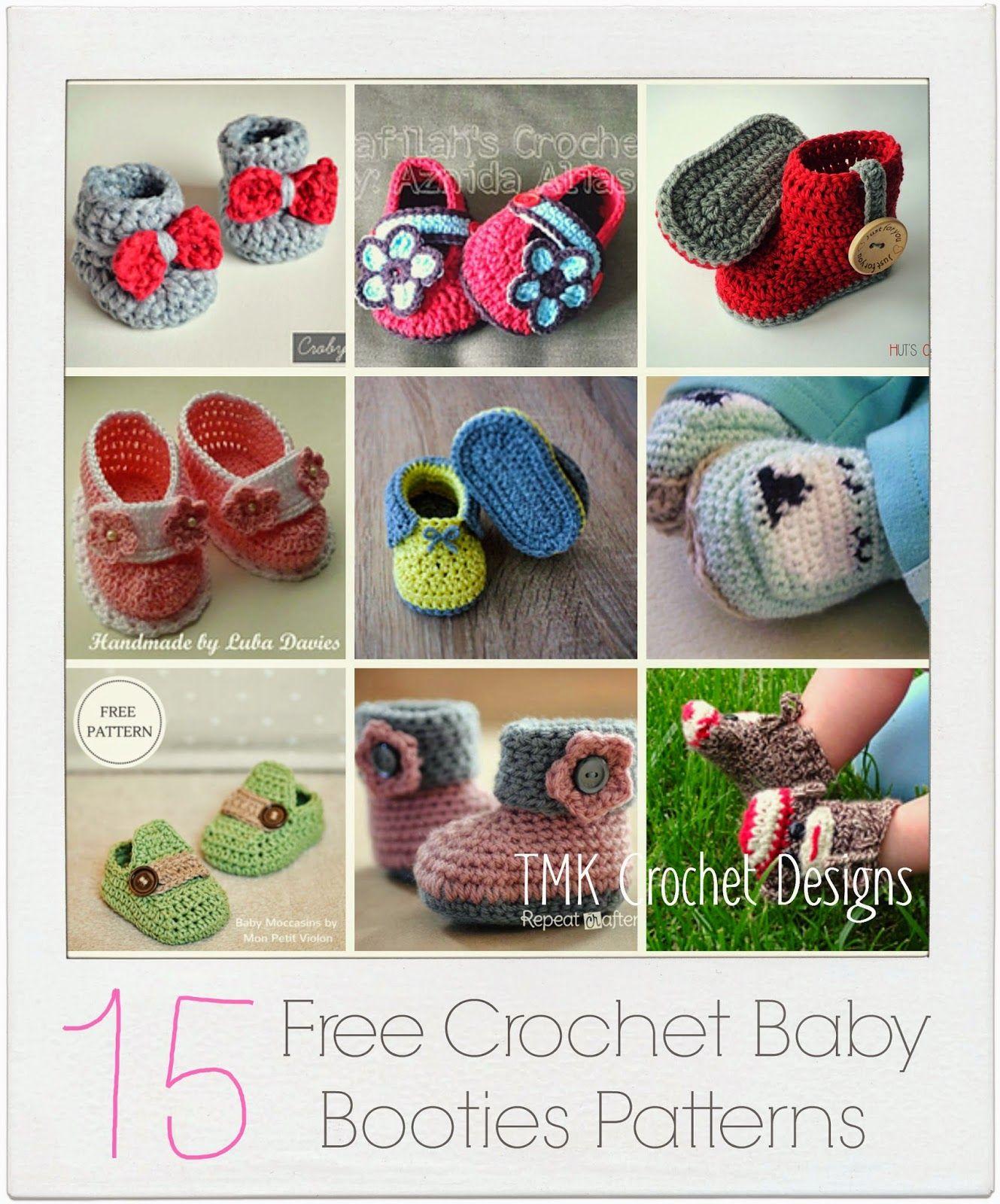 TMK crochet: Free Crochet Pattern Round-Up: Baby Booties | baby ...