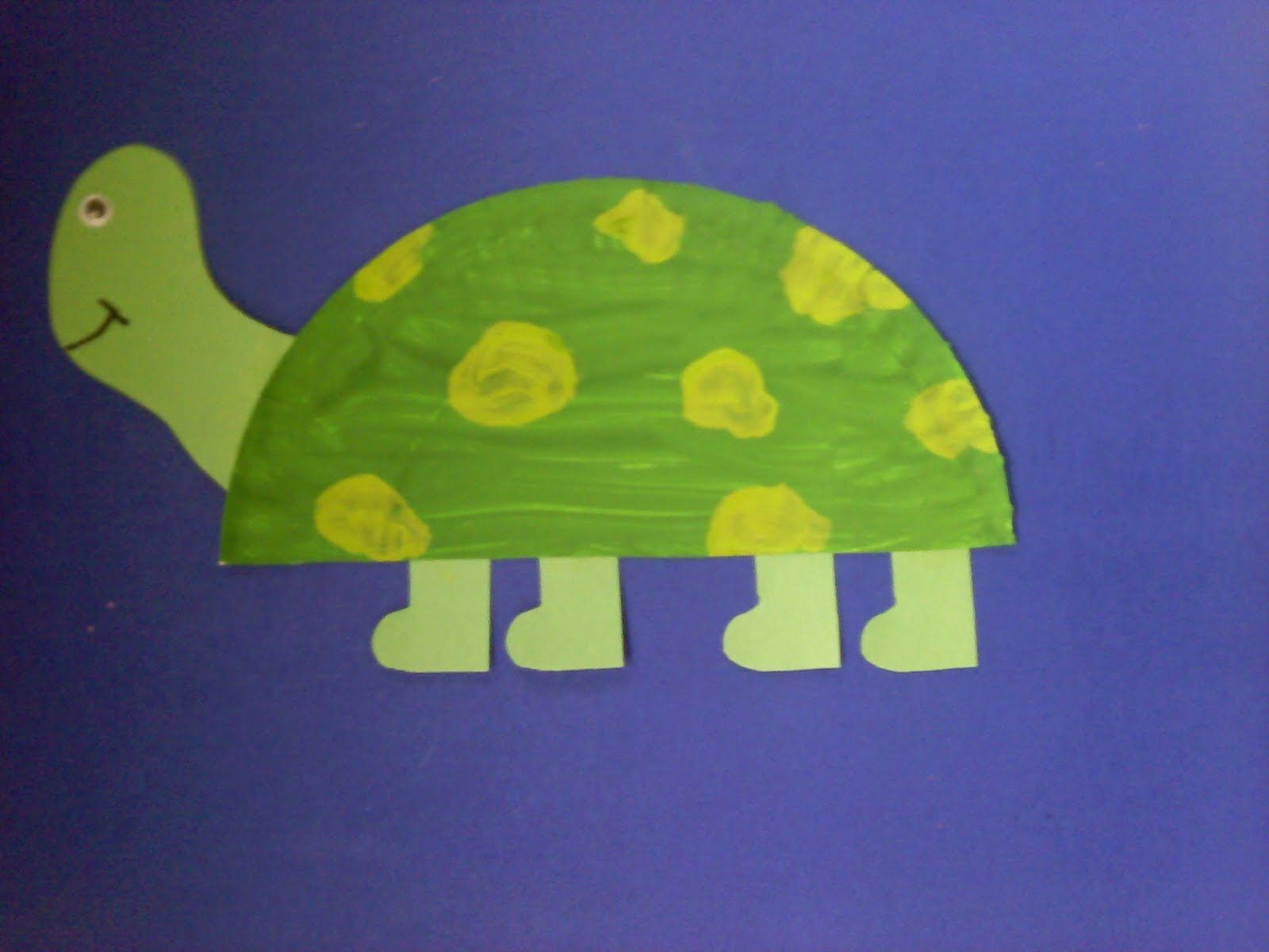 Crafts For Preschoolers Paper Plate Turtle