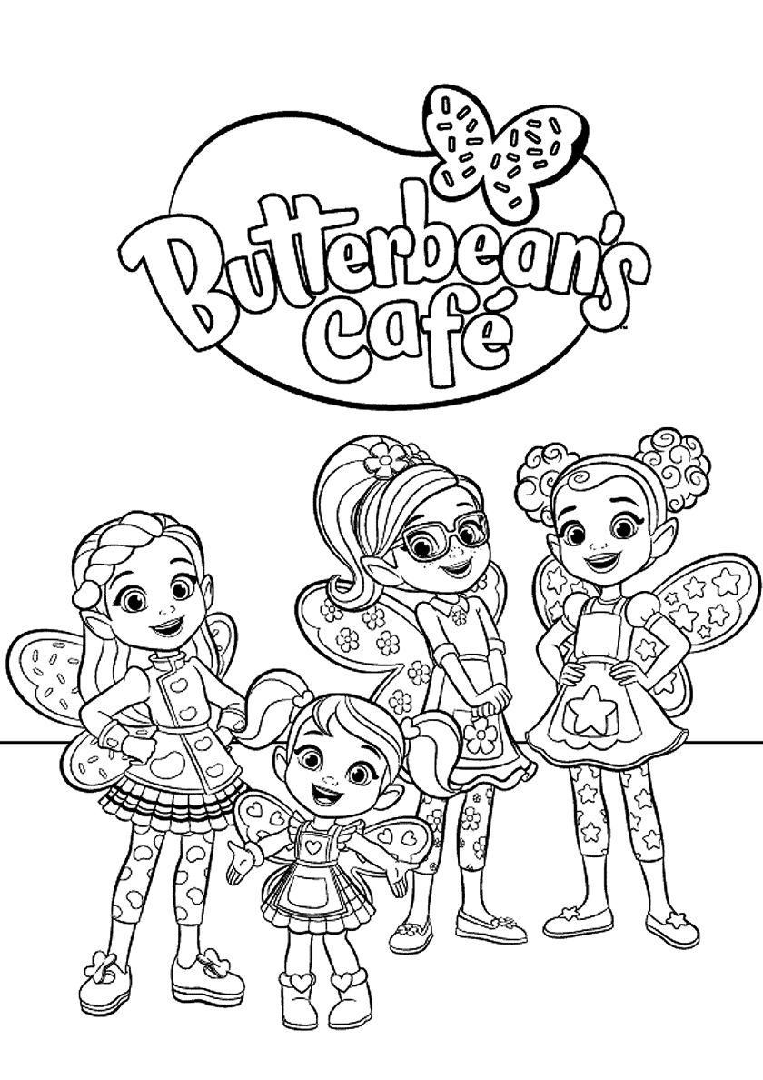 Butterbean S Cafe Employees High Quality Free Coloring From The Category Butterbean S Cafe More P Free Coloring Pages Cartoon Coloring Pages Coloring Pages