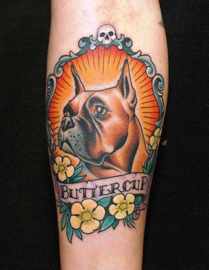 50 Dog Tattoo Ideas Small Dog Tattoos Dog Portrait Tattoo Traditional Tattoo Dog