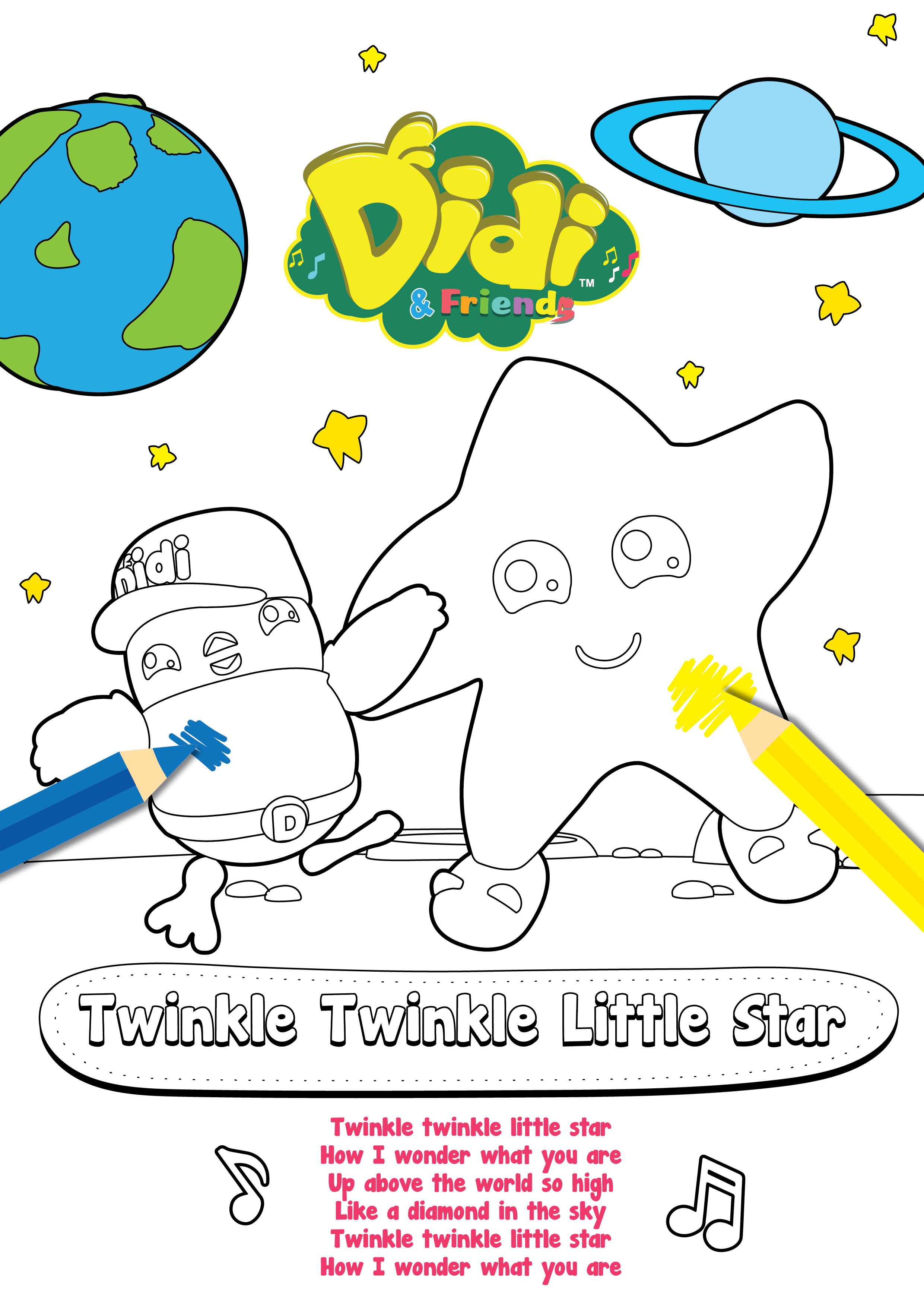 If You Want To Teach Your Kids To Sing You Should Download This Free Colouring Sheet Because It Has T Craft Free Free Coloring Sheets Coloring Sheets For Kids