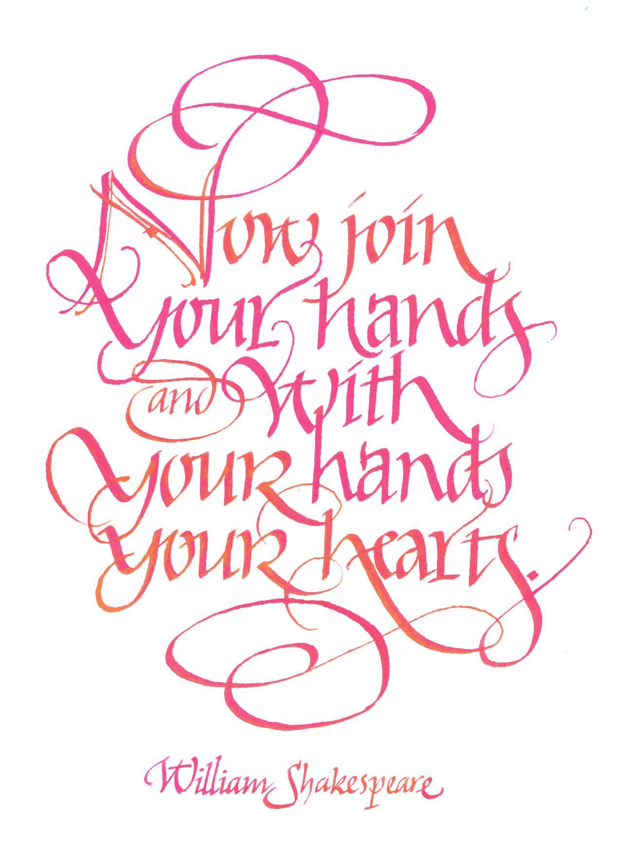 Amanda Bradley Calligraphy. For my daughter's wedding