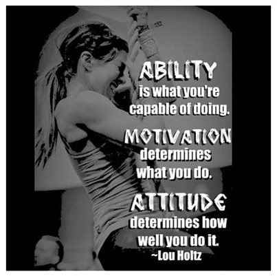 #ABILITY #MOTIVATION #ATTITUDE