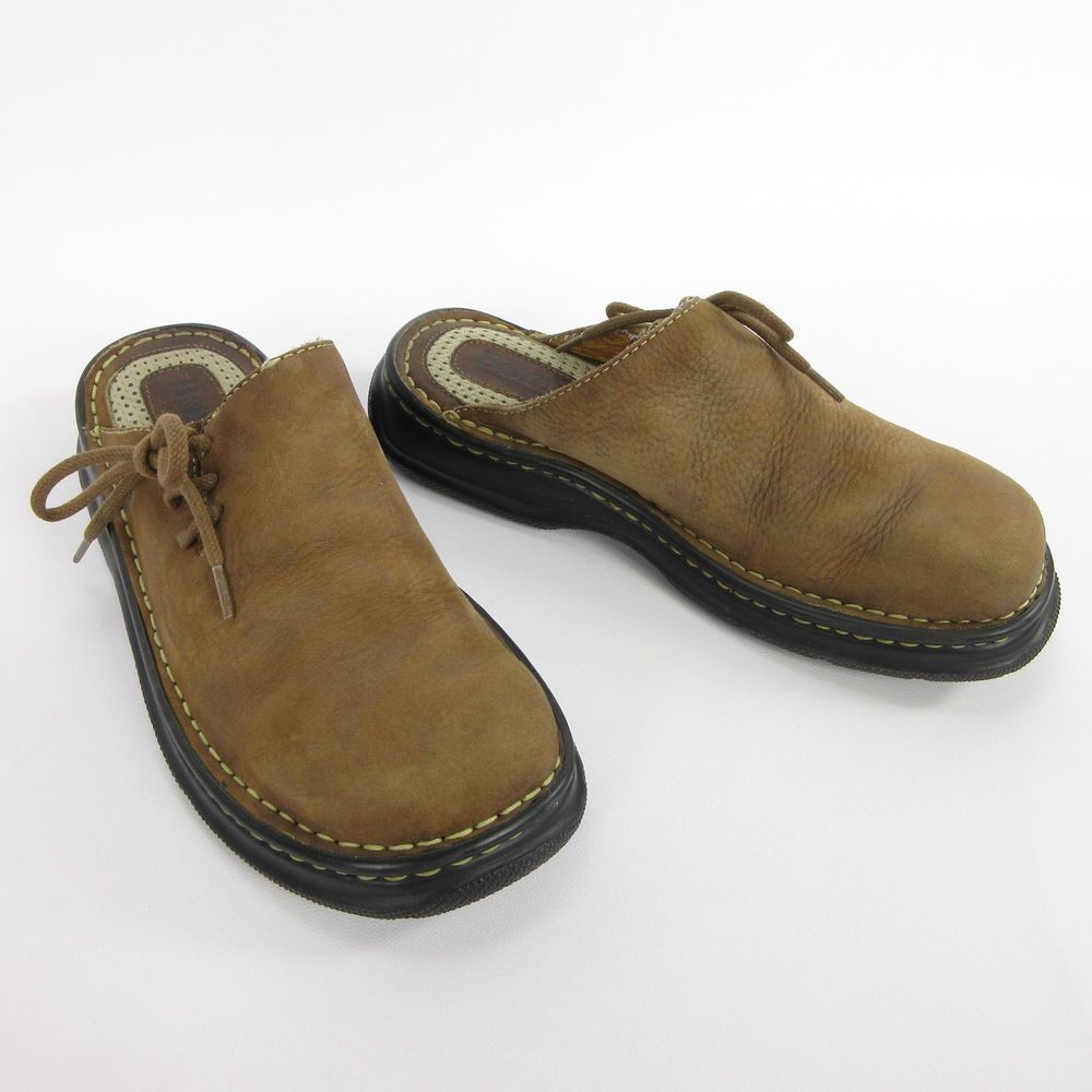 Born Brown Pebbled Leather Casual Comfort Loafers 8 39 M