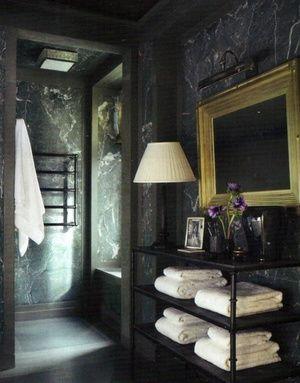 The Black Room | Pinterest | Mármol negro, Baños elegantes y Cuarto ...