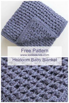 Free Heirloom Baby Blanket Crochet Pattern Crochet Knitting