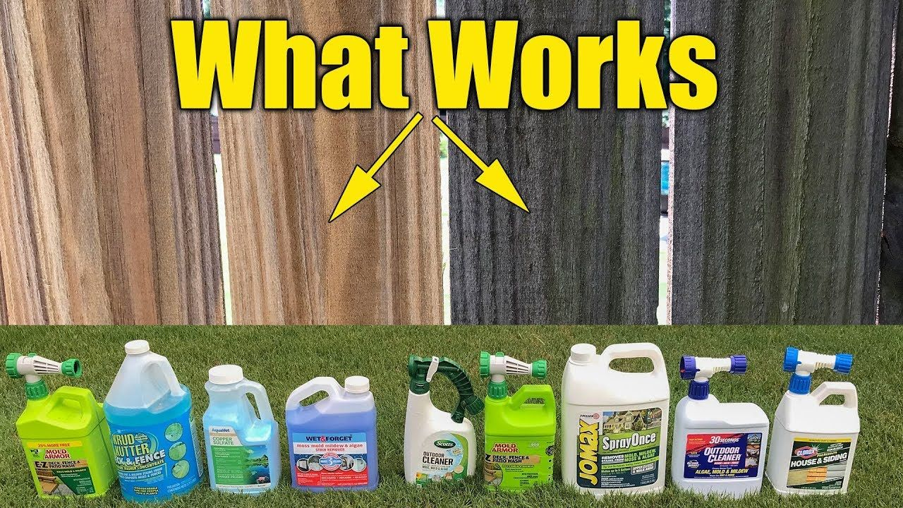 Deck and fence cleaners review mold mildew algae