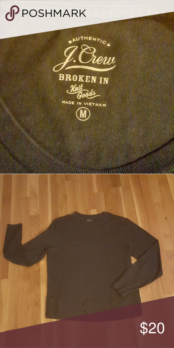 25cfdbe9b01a J. Crew men's long sleeved tee NWOT, navy blue pocket tee. Super soft,  broken in cotton. Perfect staple for ANY wardrobe. Nuff said.