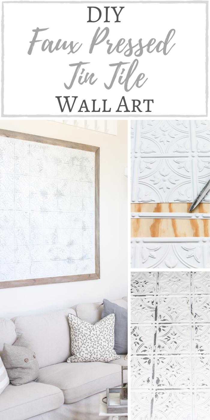 Diy Faux Pressed Tin Tile Wall Art Tin Tiles Tin Wall Decor Tile Wall Art