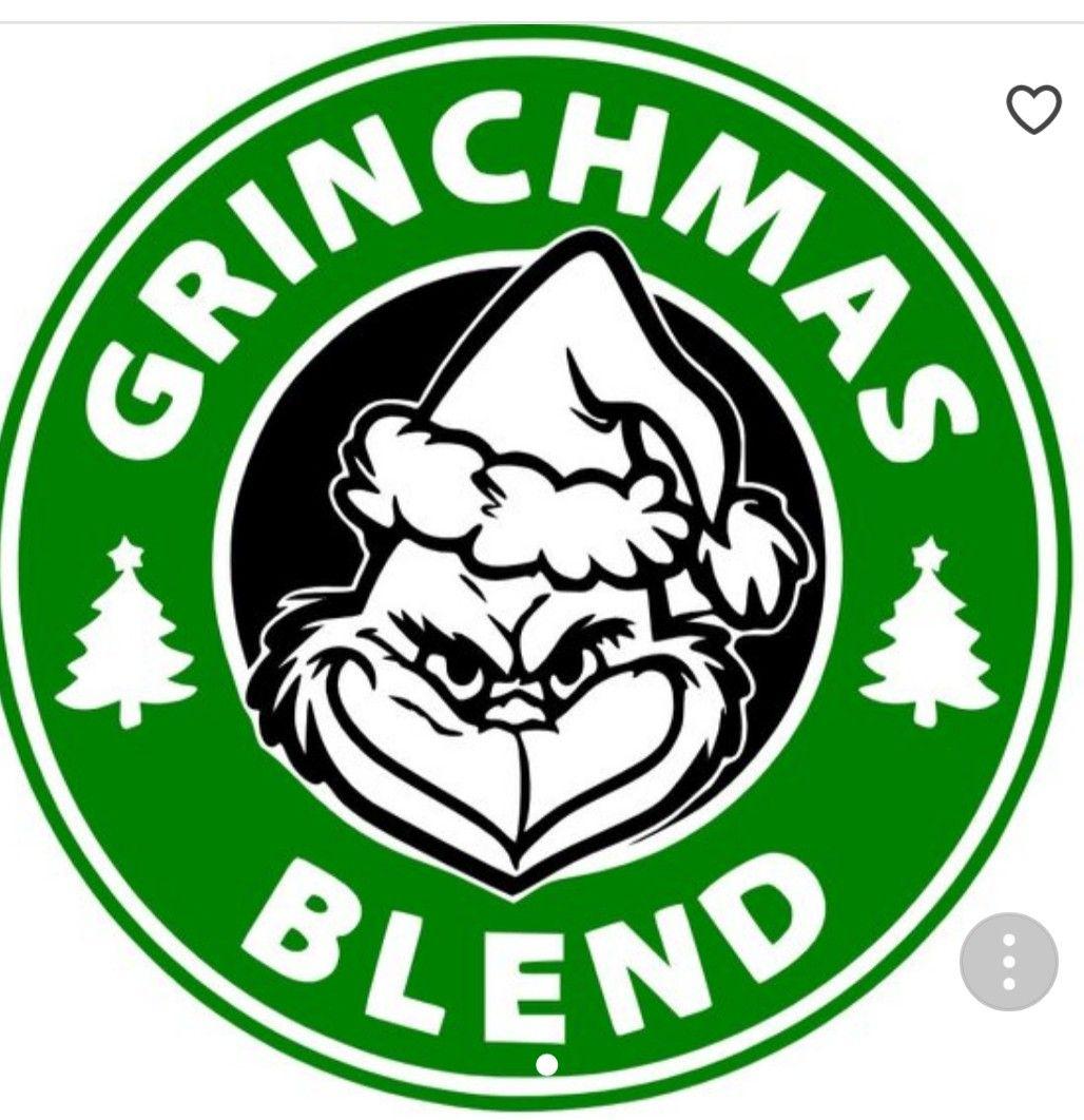 Black The Grinch Lives Here Christmas Vinyl Sticker