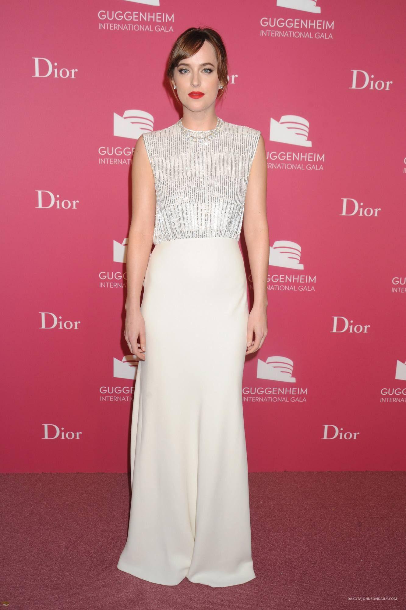 Dakota Johnson at 2015 Guggenheim International Gala Dinner ...