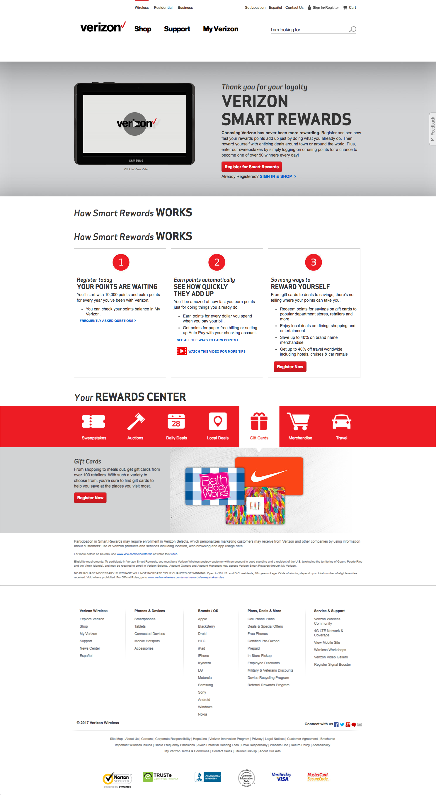 Verizon Keeps It Simple With A Bright Tab Navigation System And