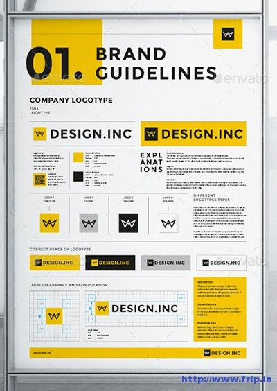 35+ Best Brand Manual Templates 2020 | Frip.in