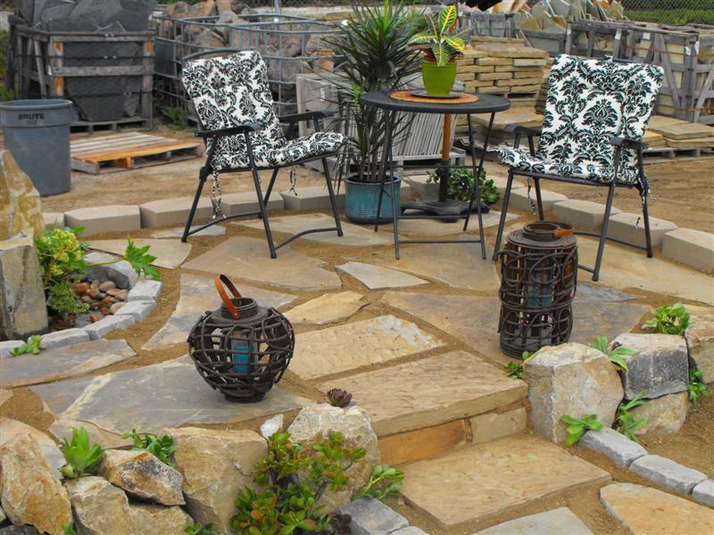 how to set flagstone patio