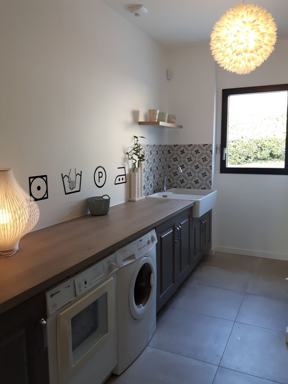 d coration buanderie ain 1 buanderie terminee maison en 2019 laundry room laundry. Black Bedroom Furniture Sets. Home Design Ideas