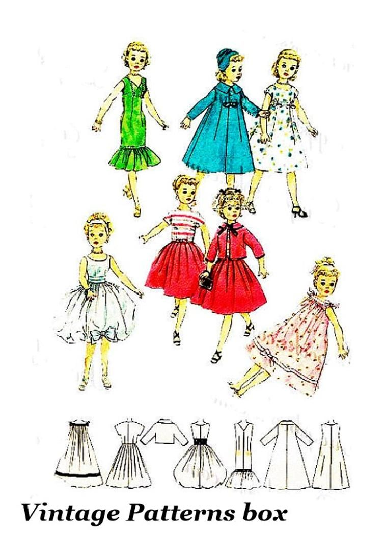 "Majorette Revlon Doll Clothes Cowgirl Vtg Pattern ~ for 14/"" 15/"" Toni Belle"