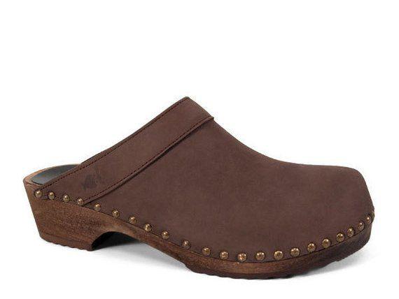 21523e5bdd64d Swedish Clogs /Leather Shoes/ Classic Clogs/ Leather Clogs / Mens ...