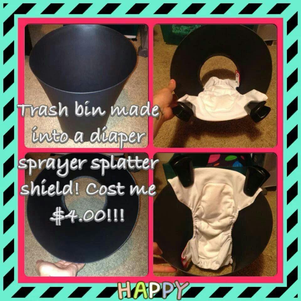 Diy Diaper Sprayer Splatter Shield Cloth Diapering