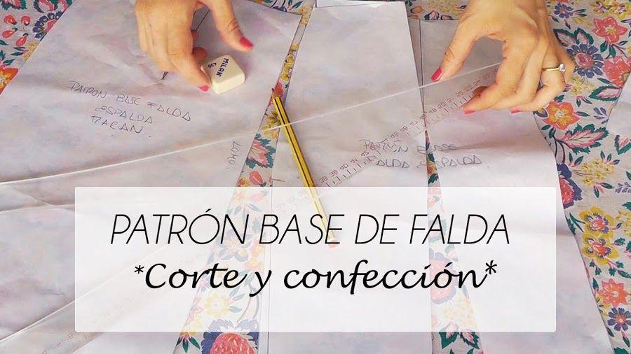 Patrón base de falda, ¡paso a paso! | cosir | Pinterest | Falda ...
