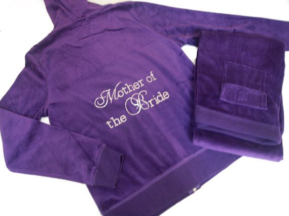 Bride Bridesmaid Velour Tracksuit Jacket and by sparklyweddingshop