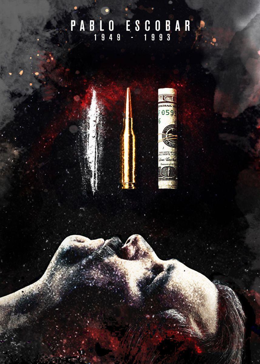 Lord Pablo Escobar Narcos Metal Poster Print Micho Abstract Displate In 2021 Pablo Escobar Narcos Wallpaper Narcos Poster