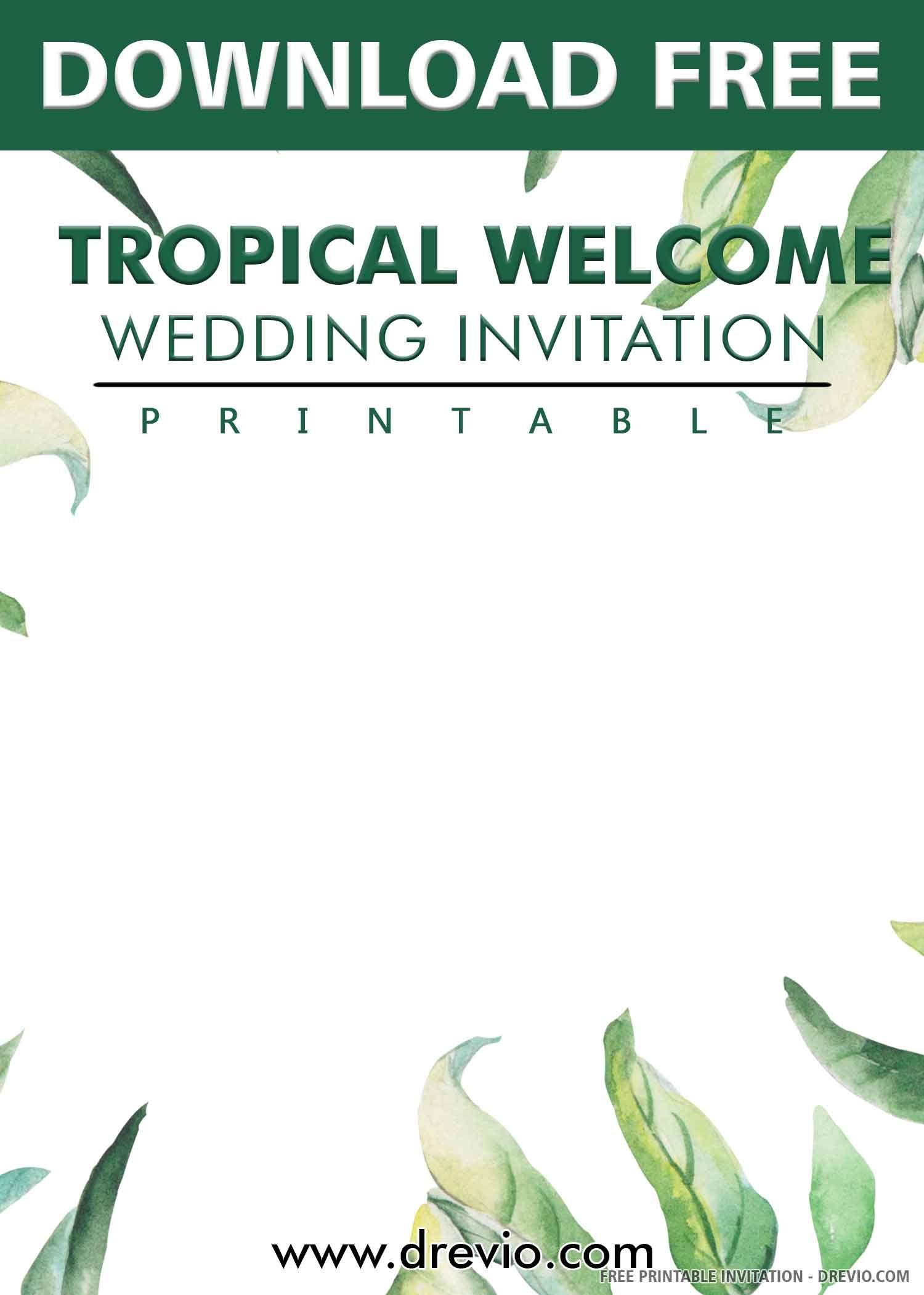 15++ Tropical wedding invitations templates info