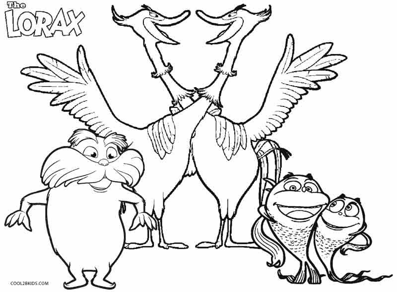 Printable Lorax Coloring Pages For Kids | Cool2bKids | Film & TV ...