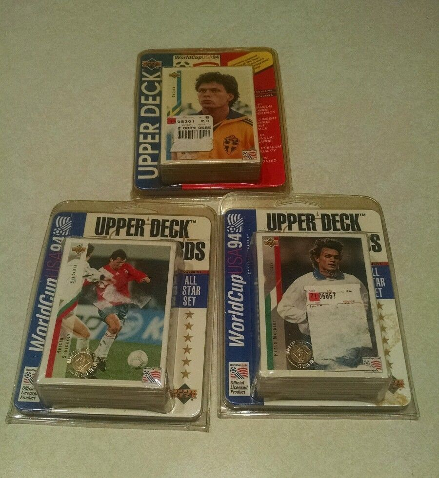 Upper Deck Soccer Cards World Cup USA 94 Three All Star Sets NIP #UnitedStates