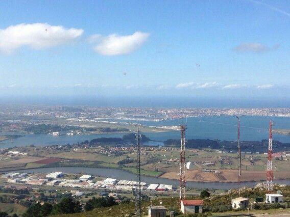 Bahia de Santander desde Peña Cabarga