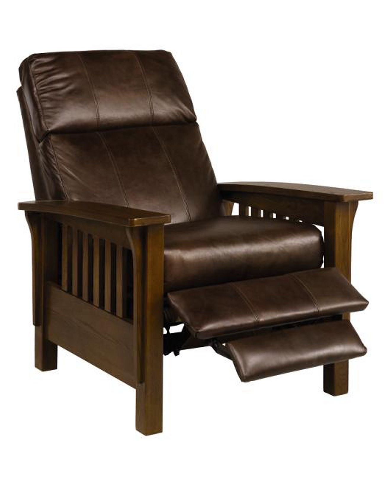 Brilliant Nicolas Ii Mission Style Leather Recliner Chair 33W X 40D Unemploymentrelief Wooden Chair Designs For Living Room Unemploymentrelieforg