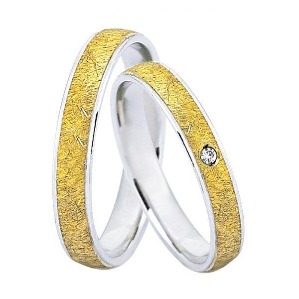 Βέρες γάμου Deca gold δίχρωμο χρυσό Κ14  67a5f971090