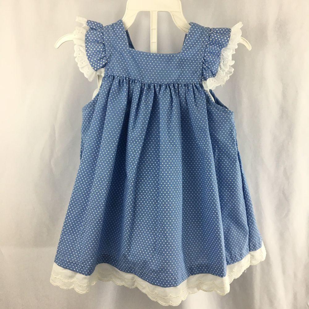 Vintage Carters Dress Toddler Girls Size 3t Blue Polka Dot White Eyelet Lace Ebay Toddler Girl Dresses Toddler Dress Carters Dresses [ 1000 x 1000 Pixel ]