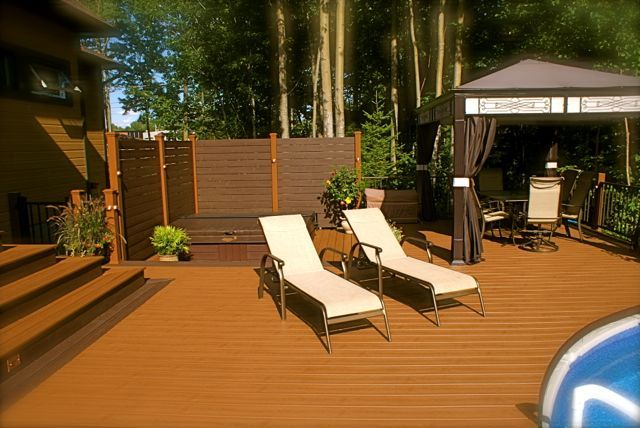 Plastic vs Composite decking pvc deck pros contemporary patio ideas