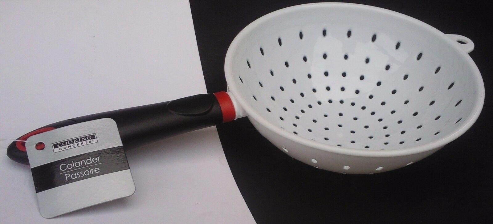 Kitchen Colander Strainer White Plastic 7 Basket 5 5 Handle Pasta Vegetables 639277965370 Ebay In 2020 Colanders Strainers Strainer Long Handles
