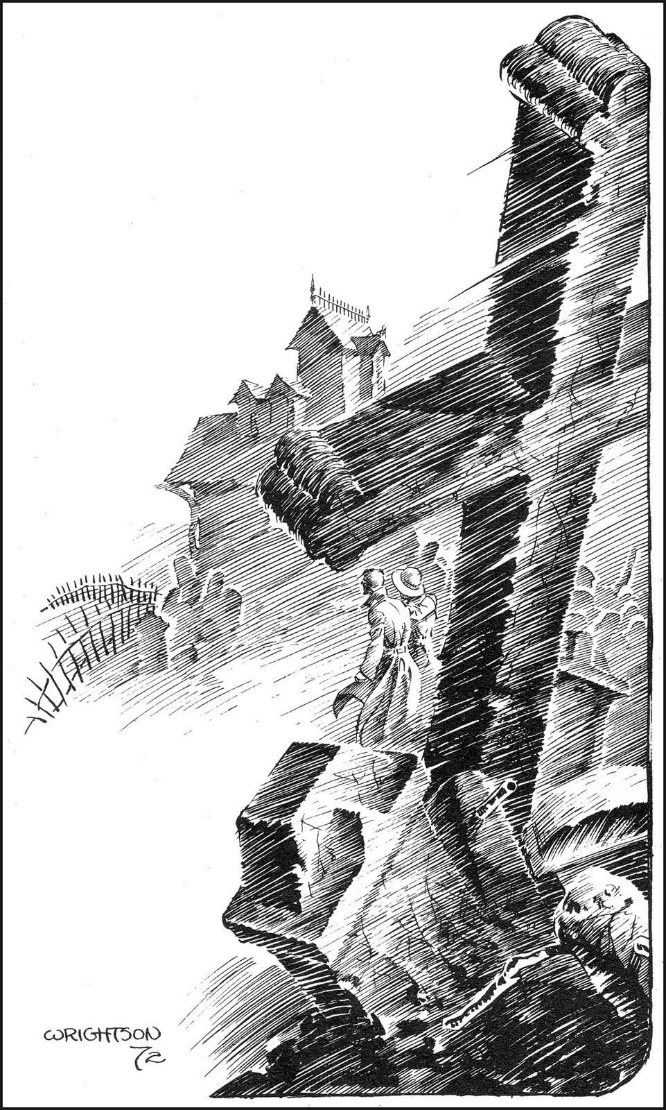 e03ad66ca74c6 Berni Wrightson—great use of negative space, could see awesome text wraps