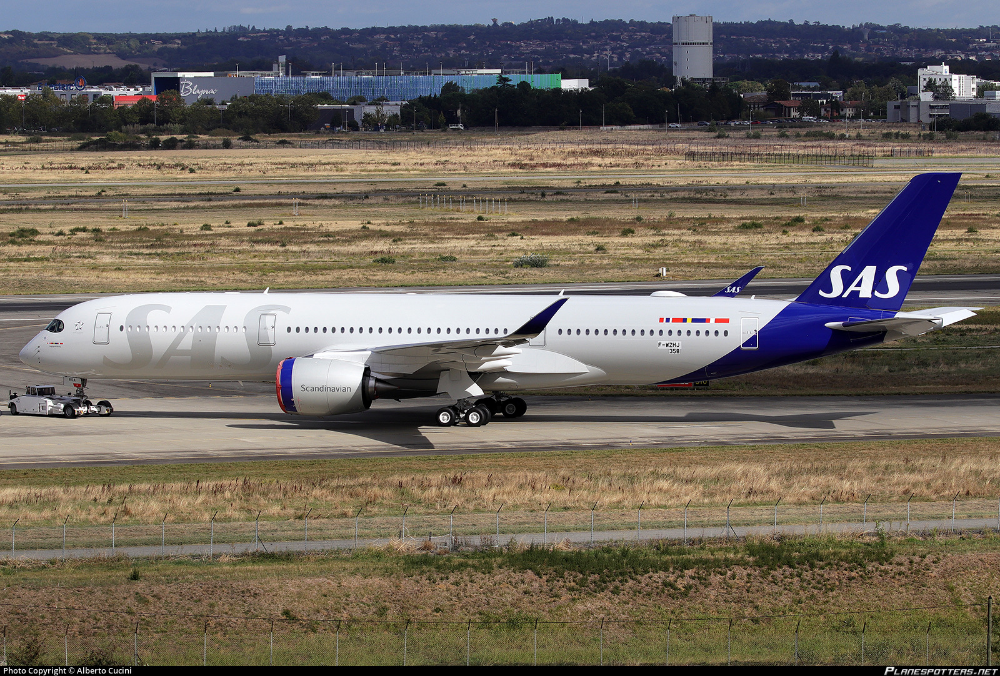 F Wzhj Sas Scandinavian Airlines Airbus A350 941 Aviones