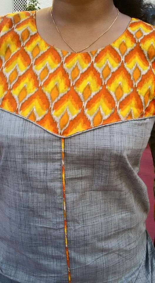 How to make different types of kurthi patterns | Patterns, Kurti and ...