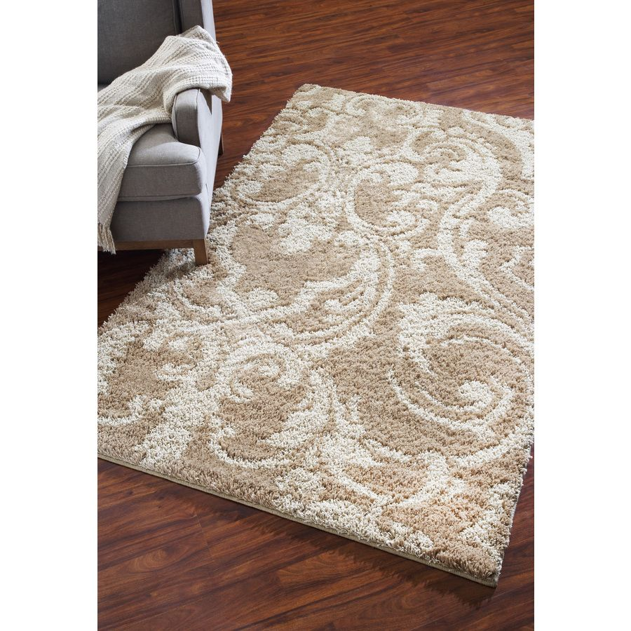 shop mohawk home wilkshire apple butter biscuit rectangular cream tufted area rug common - Mohawk Area Rugs