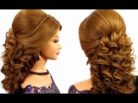 Youtube Hairstyles Interesting Romantic Wedding Prom Hairstyle For Long Hair Youtube  Hair