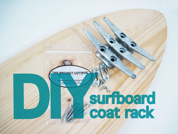 DIY 40 SURFBOARD Coat Rack With Cleats DIY Decor Inspiration New Surfboard Coat Rack