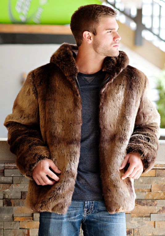 Puma Faux Fur Men's Couture Hooded Parka | wearables | Pinterest ...