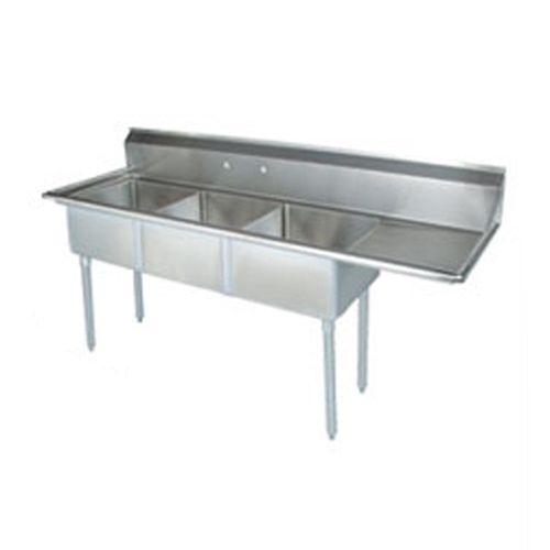 Tarrison Stainless Steel Corner Drain Triple Pot Sink Right Drainboard Commercial Kitchen Equipment Restaurant Sink Sink