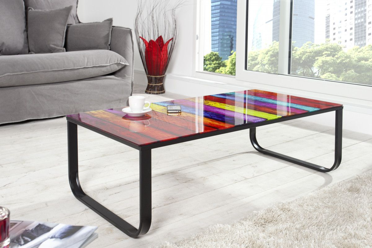 Table Basse Design 105 Cm En Verre Et Métal Coloris Multicolore Table Basse Design Table Basse Table Basse Design Italien