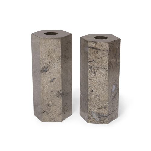 Covet Candle Holders. Xk #kellywearstler #covet #candleholders #candle #homedecor #pyrite #decorativehome #homeaccessories #giftsforhim