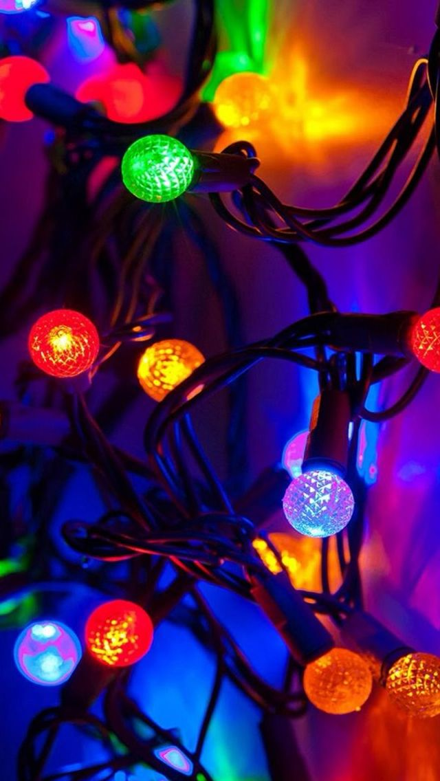 new year 2015 colorful lights decoration iphone 5s wallpaper