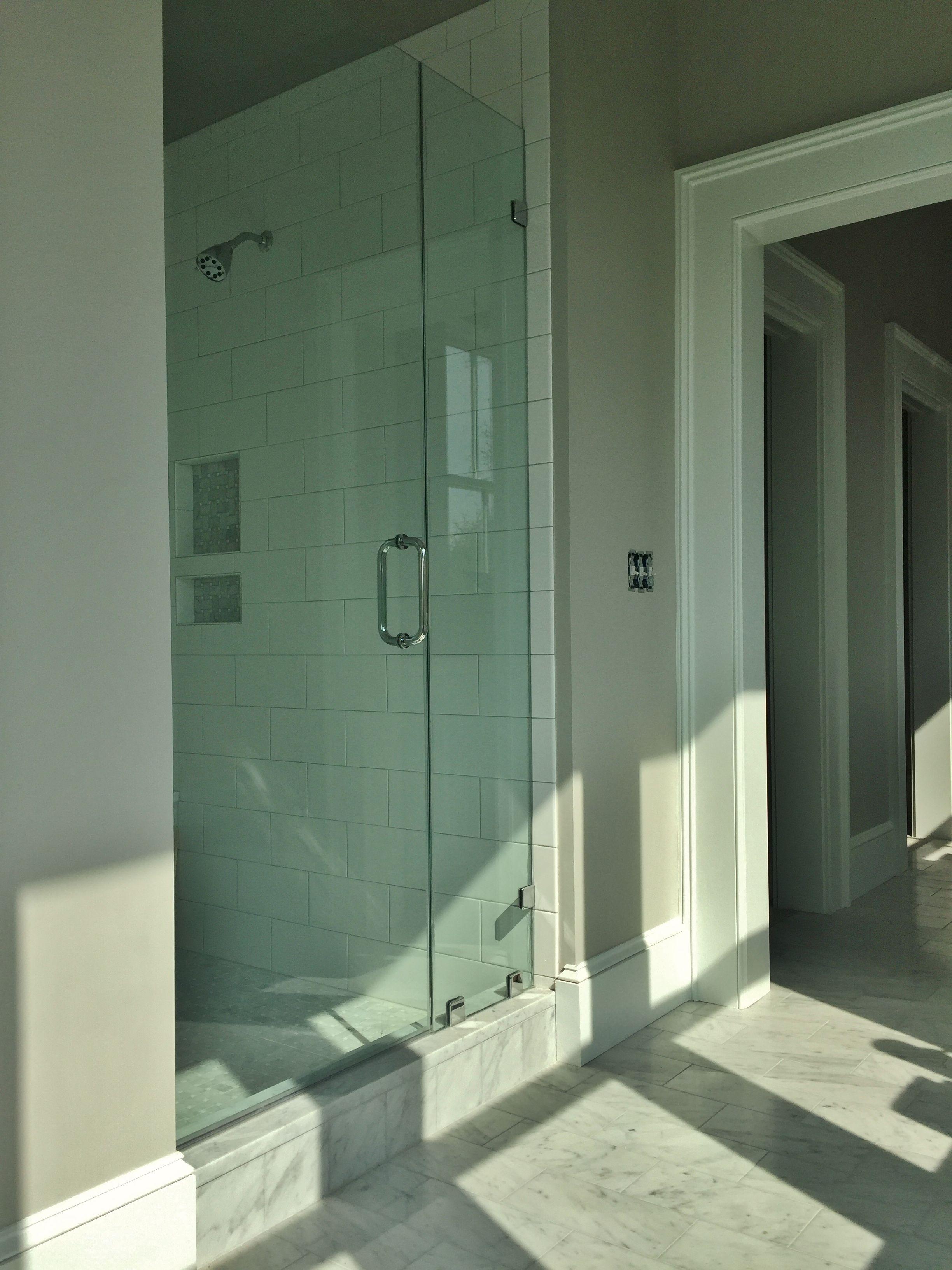 Tile Jobs Inspirational Master Bathroom 6x12 Carrara Marble Floor